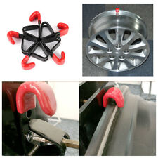 6X Bolt On Wall Metal J Wheel Shop Display Stand Rack Rim Hook Screw Grid Holder