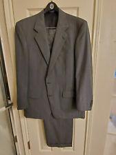 Burberry men's suit 46 reg 38X32 wool gray pinstripe John L. Ashe