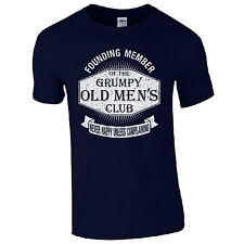 NEW Grumpy Old Men's Club T-Shirt - Funny Dad Grandad Fathers Day Joke Gift Top