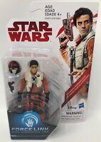 """Hasbro Disney Star Wars 4"""" Poe Dameron (Resistance Pilot) Force Link Action Fig."""