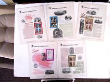 Commemorative Panels 1984 (32) total, PO Fresh, in plastic sheets, #205 to 236