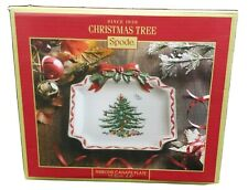 "Spode Christmas Tree Ribbons Canape Plate Hand Painted 6.5"" NIB"
