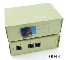 CablesOnline 2-Way RJ45 Ethernet AB Manual Switch Box, SB-034