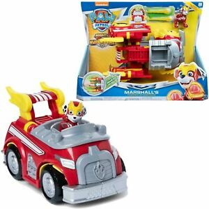 PAW Patrol Mighty Pups Superpaws Marshall's Powered Up Transforming Fire Truck