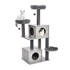 Cat Tree Modern Cat Tower Scratching Post Climbing Activity Center 2 Large Codno