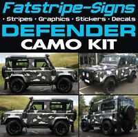 LAND ROVER DEFENDER CAMO GRAPHICS DECALS STICKERS STRIPES CAMOUFLAGE 4x4 90 110