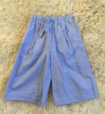 New J.Crew Crewcuts Girls' Striped Culotte Size 8 Blue White F1848
