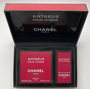 CHANEL ANTAEUS POUR HOMME EAU DE TOILETTE 19 ml SOAP 150 G FL OZ VINTAGE SET