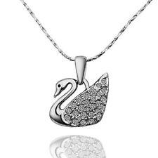 collana donna con ciondolo zirconi catena argento collane da bigiotteria strass