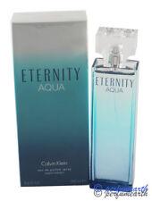 ETERNITY AQUA 3.4 / 3.3 OZ EDP SPRAY FOR WOMEN BY CALVIN KLEIN & NEW IN A BOX