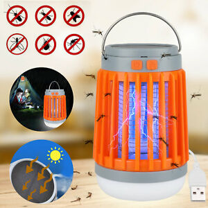 Solar USB Mosquito Killer Light Electronic Fly Insect Zapper Trap Pest Repeller