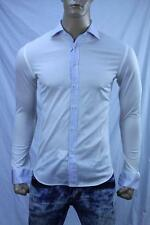 Authentic Men's casual Cotton Shirt US 15.5 Small Made in Italy