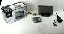 SONY ICF-CS10iP Black Dream Machine Speaker Dock AM FM Clock Radio w Remote (W5)