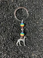 Whippet Key Ring/ Whippet Key Chain/ Whippet Loss Rainbow