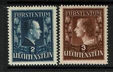 Liechtenstein SC# 259 and 260, Mint Never Hinged - S12926