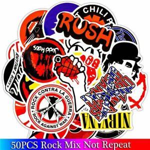 Rock Band Stickers Heavy Metal Sticker Punk Guitar Car Styling Laptop Skateboard