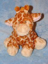 "Baby Ganz Plush Giraffe Brown Spot Gray Stitched Eyes Soft Stuffed Toy Sits 8"""