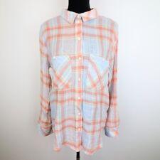 New Sanctuary Plaid Button Front Womens Casual Boyfriend Shirt Size XL - 14J