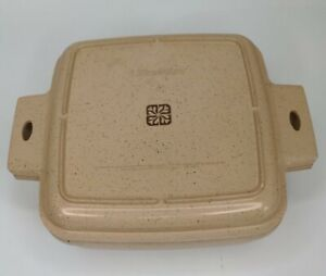 LittonWare 1.5 Quart Square Casserole Dish and Lid 39271 39272 VTG Microwave