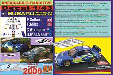 ANEXO DECAL 1/43 SUBARU IMPREZA SOLBERG & ATKINSON R.TURKEY 2006 13rd & 6th (07)