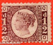 """Sg. 48/49. G4. """"qo"""". 1/2 d rose-rouge plaque 12. une fine mounted mint exemple."""