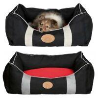 Trixie Dog Bed Caya Stylish Black & Red - Choice Of Sizes