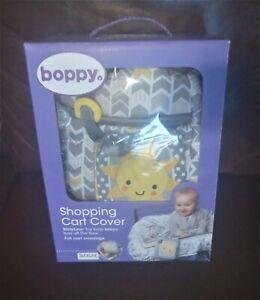 Boppy Shopping Cart Cover, Sunshine/Gray NIB
