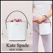 NWT Kate Spade Small Bucket Pippa Bag PXRUA294 Optic White Multi