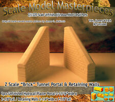 "Z Scale ""Brick"" Retaining Wall Set (2pcs) Scale Model Masterpieces *NEW PRODUCT*"