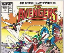 Official Marvel Index to The AVENGERS #2 Issue 24 - 45 from Aug. 1987 in Fine