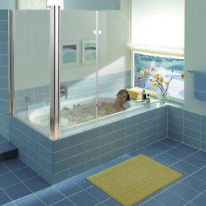 Badewannenaufsatz Duschabtrennung Eck Glas Badewannenfaltwand Duschkabine Dusche