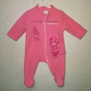 DISNEY surpyjama pyjama polaire MINNIE rose  3, 6  ou 18 mois NEUF