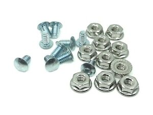 "10 pcs Belair Chevelle Impala Nova grille rivets screws nuts 10-24 x 3/8"" fl nut"