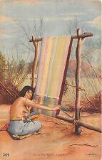 B86241 india del norte tejiendo North Indian weaving types folklore argentina