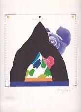 """litografia Concetto Pozzati """"Come misurare le rose in montagna"""" - Firmato/Signed"""