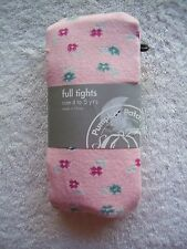 BNWT Girl's Pumpkin Patch Pink Floral Cotton Tights/Sockings Size 4-5