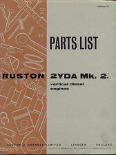 Ruston 2YDA Mk. 2. Parts List vertical diesel engine