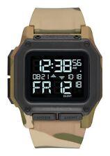 New Nixon Regulus Digital Watch Multicam LCD Display 100m Water-resistant