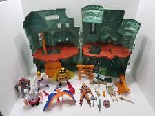 Vintage Mattel MOTU 1980s LOT- Castle Grayskull, He-Man, Buzz-Off, Stratos, More