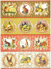 Rice Paper for Decoupage Decopatch Scrapbook Craft Sheet Vintage Easter Farm