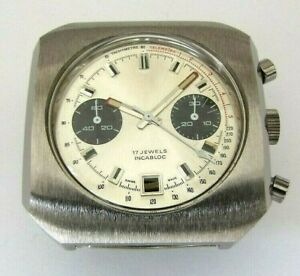 Valjoux 7734, chronograph case with dial and hands. NOS, swiss made