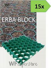 Grigliato salvaprato salvaverde in plastica carrabile ERBA BLOCK - 15 pezzi