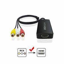 Composite to HDMI Converter, Nintendo 64 to HDMI, AV to HDMI Support 1080P wi...