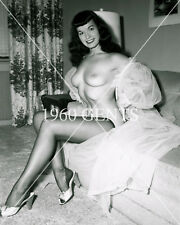 1950s NUDE 8X10 PHOTO BUSTY NICE ASS PINUP BETTIE PAGE FROM ORIGINAL NEG-8