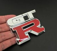 Nissan GTR Metal Decal Badge Red/Chrome Brand New Skyline 32 GTR33 GTR34 GTR35