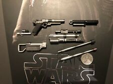 Hot Toys Star Wars Rogue One Jyn Erso Pistol w/ parts & Baton loose 1/6th scale