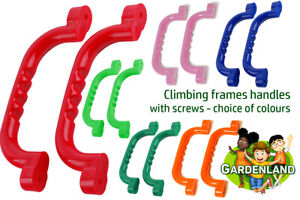 GRAB HANDLES HAND GRIPS (Set of 2) Climbing Frame Playhouse Treehouse 8 types
