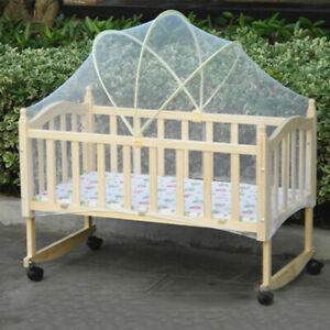 Toddler White Baby Mosquito Net Bedroom Bassinet Cover Infant Bed Canopy BT