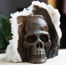 2415g Natural Surprising White Crystal Cluster skull Healing