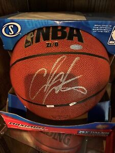 NBA signed Carmelo Anthony full size basketball steiner sports COA